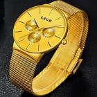 LIGE Klasyczny Elegancki Zegarek Damski GOLD (3)